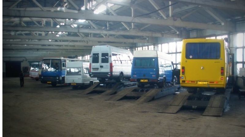 Industrial premises of  Kalush  trucking company total area14000 sq.m