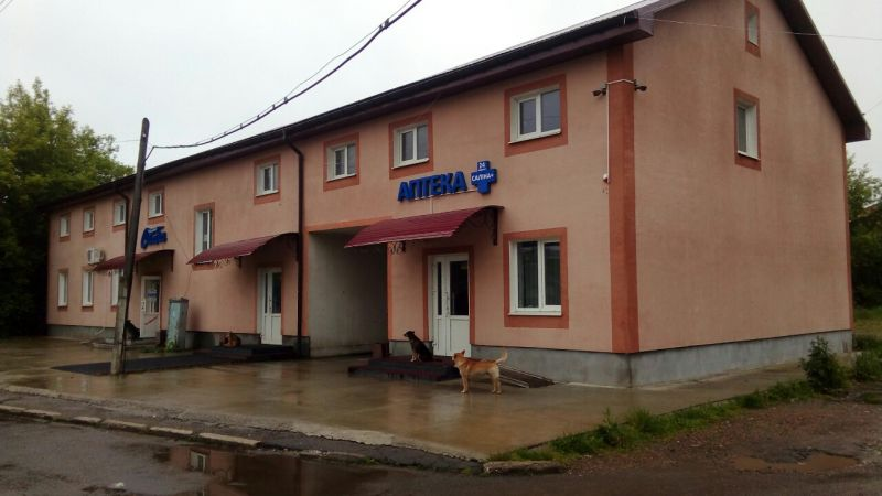 Office- trading buildings  and warehouses Kalush,str.Fabrychna ,1,  total area 888 sq.m.