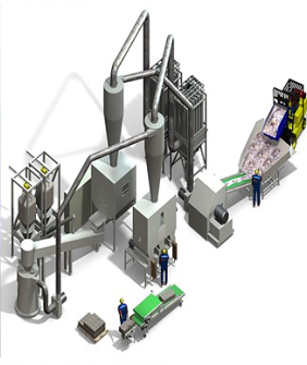 ENVIRONMENTAL, RESOURCE-SAVING TECHNOLOGIES AND EQUIPMENT FOR THE SEPARATION AND RECYCLING OF WASTE PAPER WITH POLYMERS